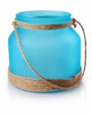 Turksowy szklany lampion ze sznurkiem