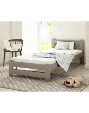 Łóżko młodzieżowe szare 90x200 cm  w sklepie Dedekor.pl