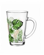 Kubek szklany Iwo 300ml TROPIK do kawy herbaty w sklepie Dedekor.pl