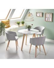 Stół ogrągły biały Monaco