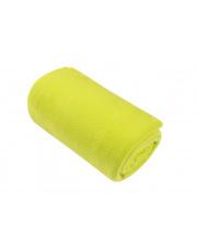 Limonkowy  koc z polaru Basic 130x150