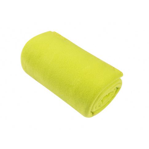 Limonkowy  koc z polaru Basic 130x150  w sklepie Dedekor.pl