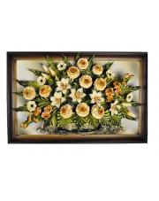 Obraz ze skóry o motywie kwiatowym 6.643 w sklepie Dedekor.pl