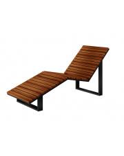 Leżak ogrodowy drewniany