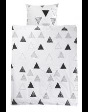 Pościel dla dzieci trójkąty czarno biała skandi 160x200 w sklepie Dedekor.pl
