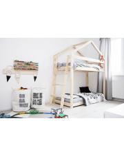 Łóżko piętrowe domek sosna w sklepie Dedekor.pl