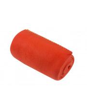 Czerwony koc z polaru Basic 130x150