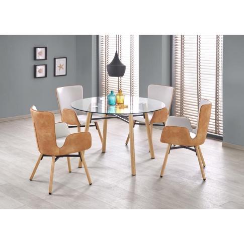 Unikalny stół ze szklanym blatem - Primo w sklepie Dedekor.pl