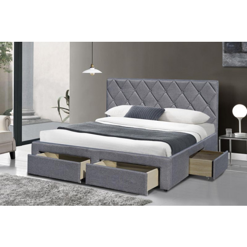 Dwuosobowe łóżko z szufladami Beti 160x200 cm w sklepie Dedekor.pl