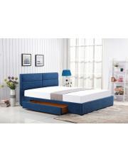 Łóżko MERIDA 160x200 niebieskie z szufladą