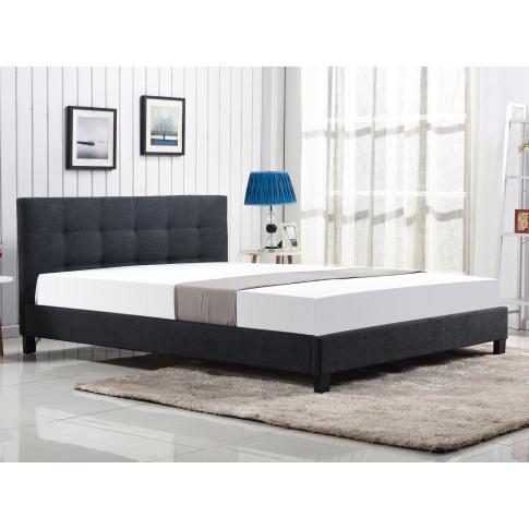 Tapicerowane łóżko OXFORD z pikowanym zagłówkiem w sklepie Dedekor.pl
