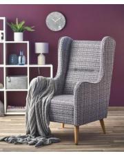 Wielobarwny Fotel CHESTER tapicerowany  w sklepie Dedekor.pl