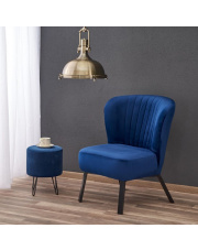 Tapicerowany fotel LANISTER w stylu vintage w sklepie Dedekor.pl