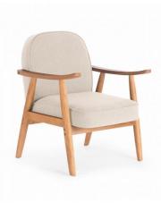 Tapicerowany fotel RETRO z podłokietnikami w stylu vintage w sklepie Dedekor.pl