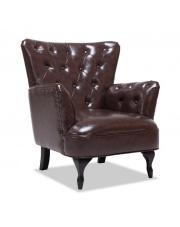 Relaksacyjny fotel CUBANO tapicerowany ekoskórą w sklepie Dedekor.pl