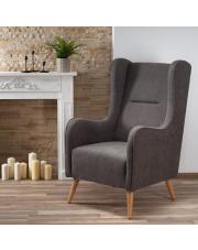 Fotel CHESTER tapicerowany ciemny popiel