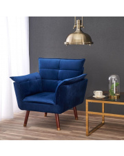 Wypoczynkowy fotel REZZO tapicerowany w stylu vintage w sklepie Dedekor.pl