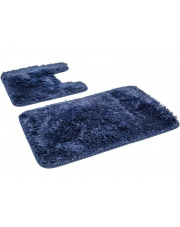 Zestaw dywaników do łazienki GRACE - 2 sztuki GRANATOWE w sklepie Dedekor.pl