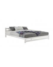 Białe łóżko drewniane dwuosobowe