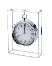 Zegar stołowy Srebrny Glamur