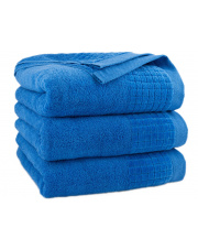 Ręcznik z bawełny PAULO 70 x 140 cm Niebieski chaber w sklepie Dedekor.pl