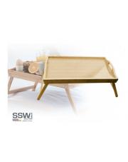Bambusowa taca stolik na łóżko