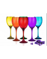 Komplet kolorowych kieliszków do wina 300ml
