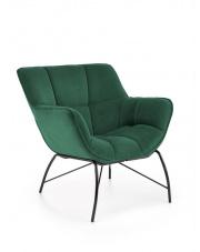 Piękny fotel Belton w butelkowa zieleń