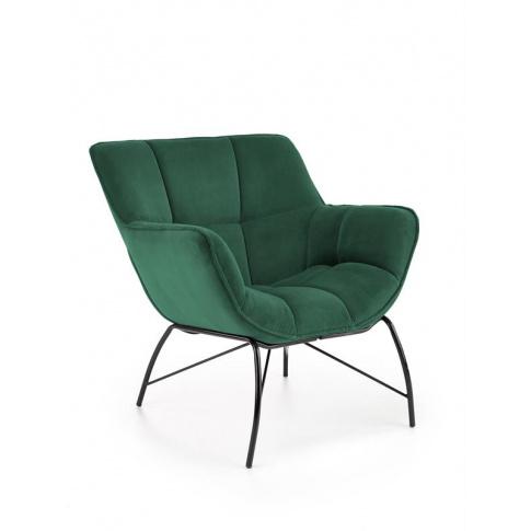 Piękny fotel Belton w butelkowa zieleń w sklepie Dedekor.pl