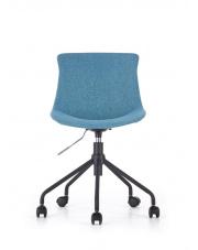 Eleganckie tapicerowane krzesło obrotowe turkus w sklepie Dedekor.pl