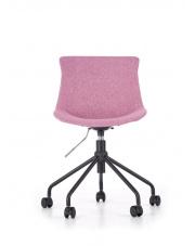 Eleganckie tapicerowane krzesło obrotowe różowe w sklepie Dedekor.pl