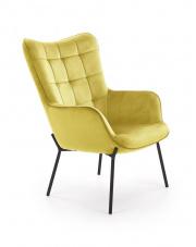 Fotel wypoczynkowy musztardowy