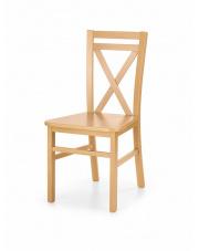 Nowe krzesło z drewna Dariusz 2 dąb miodowy w sklepie Dedekor.pl