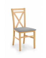 Drewniane krzesło do jadalni Dariusz dąb miodowy miękkie siedzisko w sklepie Dedekor.pl