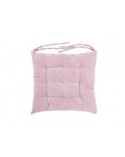 Poduszka na krzesło pikowana z wiązaniem różowa w sklepie Dedekor.pl