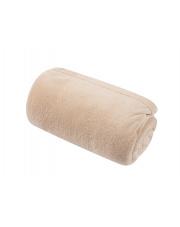 Miękki koc z mikrofibry  piaskowy 130x160 cm w sklepie Dedekor.pl