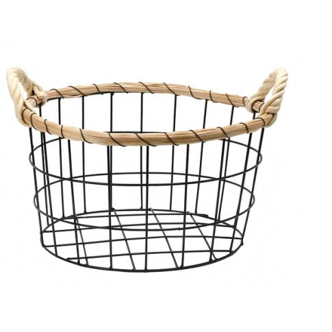 Metalowy koszyk do przechowywania 34cm w sklepie Dedekor.pl