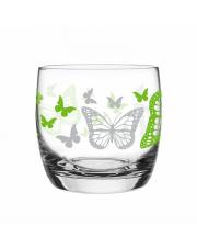 Szklanka 260 ml motyle zielone w sklepie Dedekor.pl
