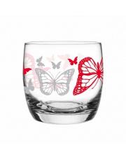 Szklanka 260 ml motyle czerwone w sklepie Dedekor.pl