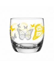 Szklanka 260 ml motyle żółte w sklepie Dedekor.pl