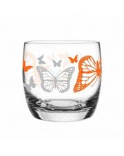 Szklanka 260 ml motyle pomarańczowe