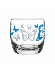 Szklanka 260 ml motyle niebieska w sklepie Dedekor.pl