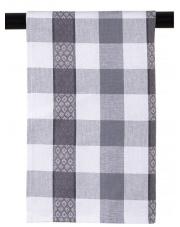 Ścierka kuchenna bawełniana biało-czarna krata 45x65 w sklepie Dedekor.pl