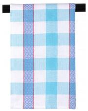 Ścierka kuchenna bawełniana biała niebieska krata 45x65 w sklepie Dedekor.pl