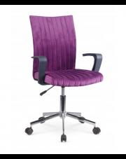 Fotel młodzieżowy gabinetowy DORIS fioletowy w sklepie Dedekor.pl