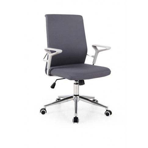 Eleganckie tapicerowane krzesło obrotowe szare STIGO w sklepie Dedekor.pl