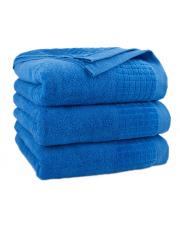 Ręcznik z bawełny PAULO 50x90 cm Niebieski chaber w sklepie Dedekor.pl
