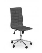 Fotel do biurka pracowniczy popielaty TIROL tkanina w sklepie Dedekor.pl
