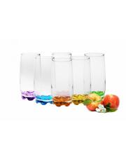 Szklanki do drinków Kolorowe Dna 350 ml w sklepie Dedekor.pl