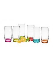 Szklanki do drinków Kolorowe Dna 350 ml